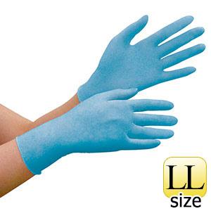 ニトリル手袋 ベルテ 780N (薄手) 粉なし ブルー LL 100枚