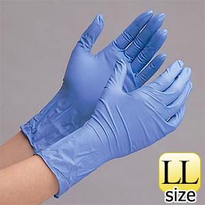 ニトリル製ディスポ手袋 ベルテ700R(厚手) LL パウダーフリー 100枚