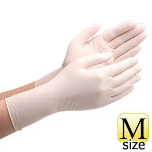 天然ゴム手袋 ベルテ600N 粉付き ホワイト M 100枚