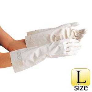 ニトリル手袋 ベルテ250 ホワイト 薄手 L 10双入