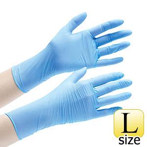 ニトリル手袋 アクセラレーターフリー ベルテ722 L ブルー 粉無 100枚