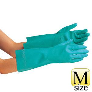 ニトリル炊事用手袋 ベルテ252 グリーン 厚手 M 10双入
