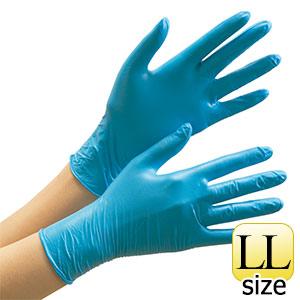 ベルテ772 ブルー LL パウダーフリー 100枚