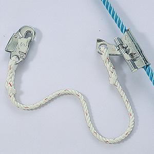 垂直親綱用グリップ 下方向常時ロック ロープチャック フック付