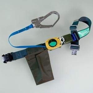 胴ベルト型安全帯 エムリール R−500L−FOT ブルーグリーン