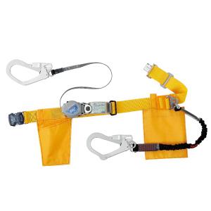 胴ベルト型 伸縮式補助ロープ付 MFD−501−10L−YL−M イエロー