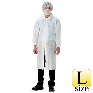 来客用セット 白衣3点セット ファスナー AZ CLEAN 1301 L