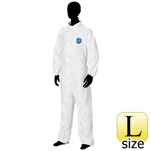防護服 デュポン(TM) タイベック(R) ソフトウェア �T型衿付 L