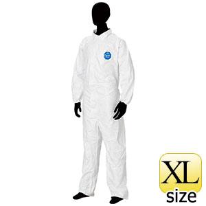 防護服 デュポン(TM) タイベック(R) ソフトウェア �T型衿付 XL