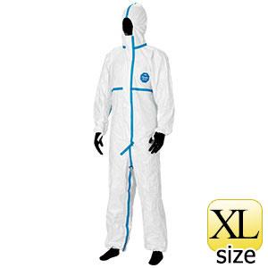 防護服 デュポン(TM) タイベック(R) ソフトウェア �V型フード付 XL
