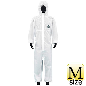 SMS不織布製 防護服 デュポン プロシールド10W ホワイト M