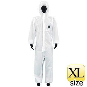SMS不織布製 防護服 デュポン プロシールド10W ホワイト XL