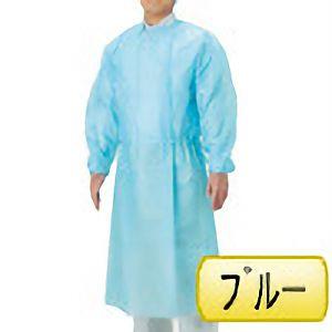 使い捨て保護衣 アイソレーションガウン (紐) ブルー フリー 50枚/箱