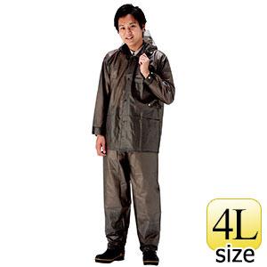 雨衣 ウェーブロック 安全コート ガンメタル 4L