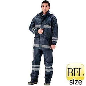 夜間作業用レインウェア 安全レイン FS−6000 ネイビー BEL