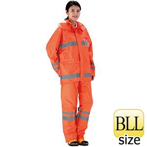 夜間作業用レインウェア 安全レイン FS−6000 オレンジ BLL