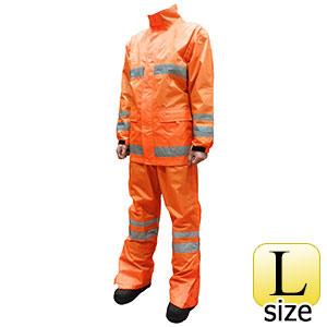 セーフティーレインスーツ スクード F8400 蛍光オレンジ L