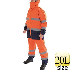レインウェア スパーダ ストレッチレイン #21199 蛍光オレンジ 20L