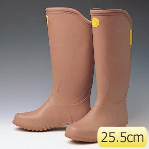 電気用ゴム長靴 (赤茶色) YS−111−14−05 25.5cm