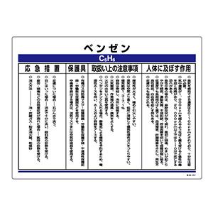 化学物質関係標識 特38−312 ベンゼン 035312