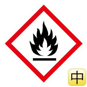 化学物質関係標識板 GHS−1(中) 炎 5枚1組 037201