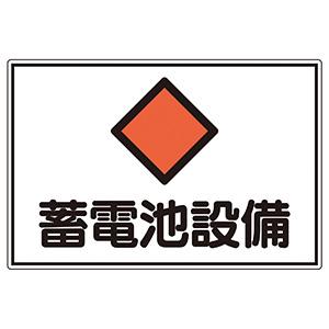 危険地域室標識 FS20 蓄電池設備 (ヨコ) 061200
