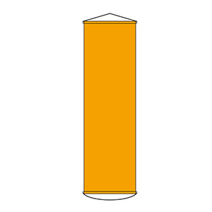 懸垂幕 幕100 オレンジ 124102