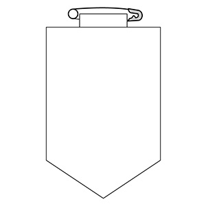 ビニールワッペン 胸100 (白地文字無) 白 126101