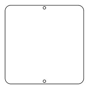 道路標識 道路60−B 無地 133012