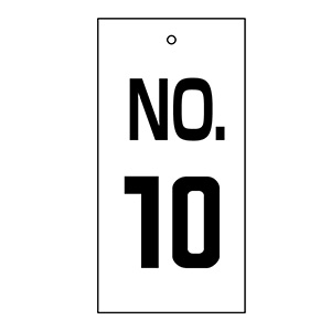 バルブ標示板 特16−10 NO.10 167010