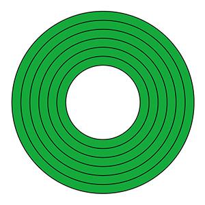 マーキング−100G 100mm径 10枚1組 緑 208501