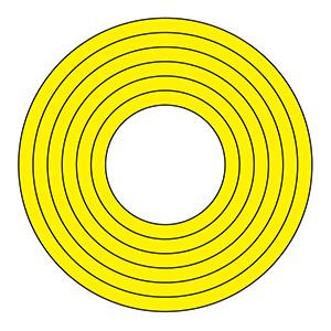 マーキング−100Y 100mm径 10枚1組 黄 208502