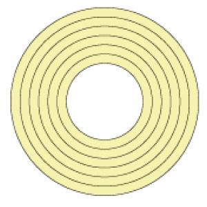 マーキング−100KY 100mm径 10枚1組 蛍光黄 208505