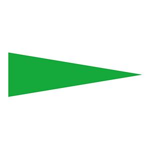 マーキング−515G 5×15mm三角 100枚1組 緑 208701