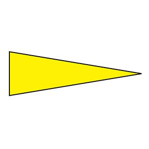 マーキング−515Y 5×15mm三角 100枚1組 黄 208702