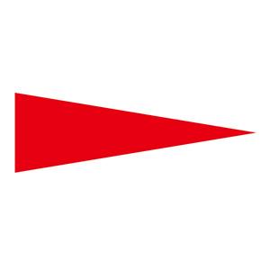 マーキング−515R 5×15mm三角 100枚1組 赤 208703