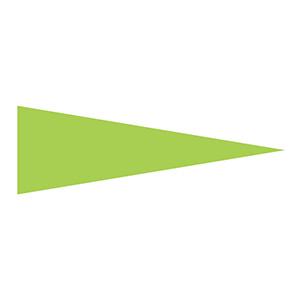 マーキング−515KG 5×15mm三角 100枚1組 蛍光緑 208704