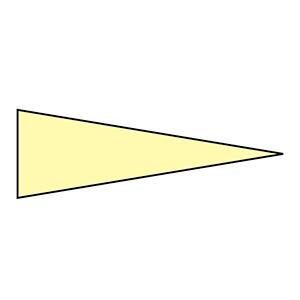 マーキング−515KY 5×15mm三角 100枚1組 蛍光黄 208705