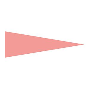 マーキング−515KR 5×15mm三角 100枚1組 蛍光赤 208706