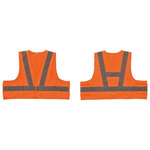 蛍光反射ベスト ショートベスト−KYR フリー 蛍光オレンジ 238212