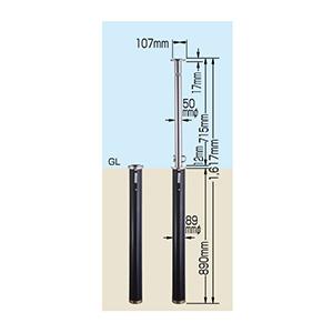 車止めガードナー GS−5L 鍵付 272011