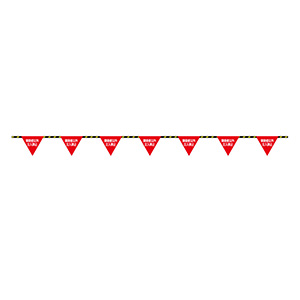 フラッグ標識ロープ−6 関係者以外立入禁止 281006
