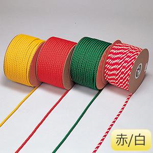 カラーロープ RE−65RW 赤白 283065