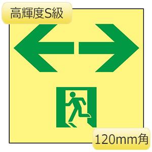 高輝度蓄光通路誘導標識 SSN963 120m角 364963