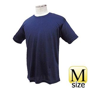 熱中対策 涼感 ワークTシャツ ネイビー M 375241