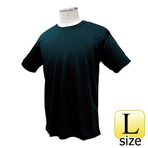 熱中対策 涼感 ワークTシャツ ブラック L 375245