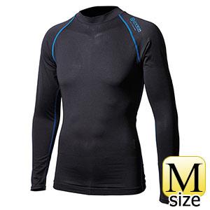 BTアウトラスト ロングクルーネックシャツ ブラック×ブルー M 375566