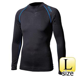 BTアウトラスト ロングクルーネックシャツ ブラック×ブルー L 375567