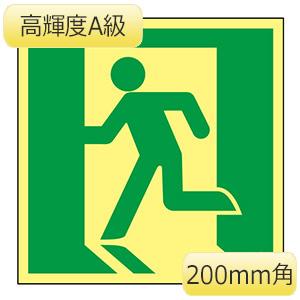 高輝度蓄光避難誘導標識 ASN815 377815