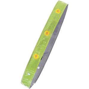 LED付き反射タスキ たすけ帯 黄 380069